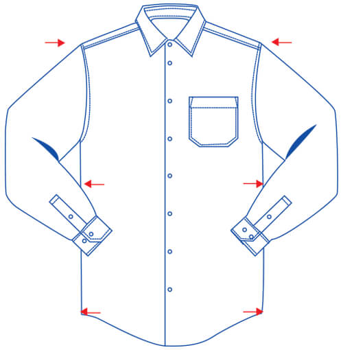 classic fit shirt diagram